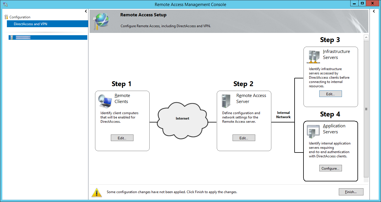Remote Access Management Console - Step 4 Application Servers