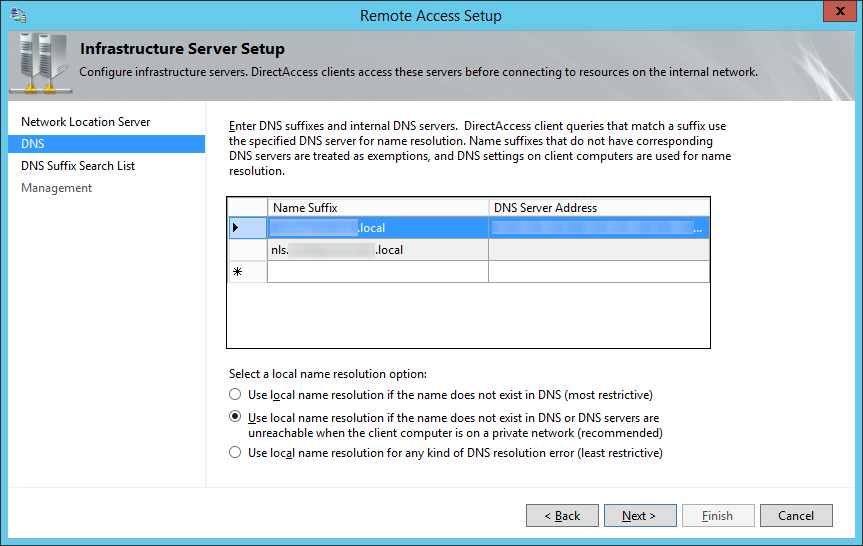 Remote Access Setup - Infrastructure Server Setup - DNS
