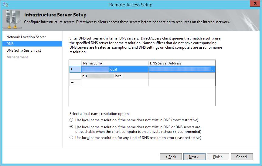 Remote Access Setup - Infrastructure Server Setup - DNS