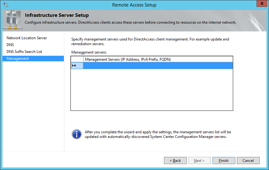 Remote Access Setup - Management