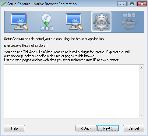 Setup Capture - Native Browser Redirection