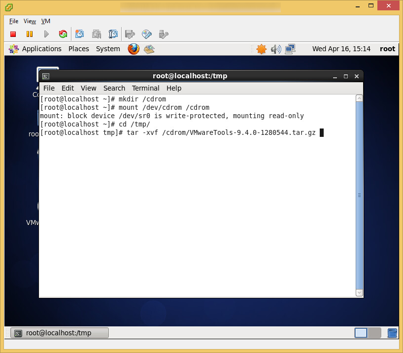 CentOS6 - VMware Tools - Extract VMware Tools