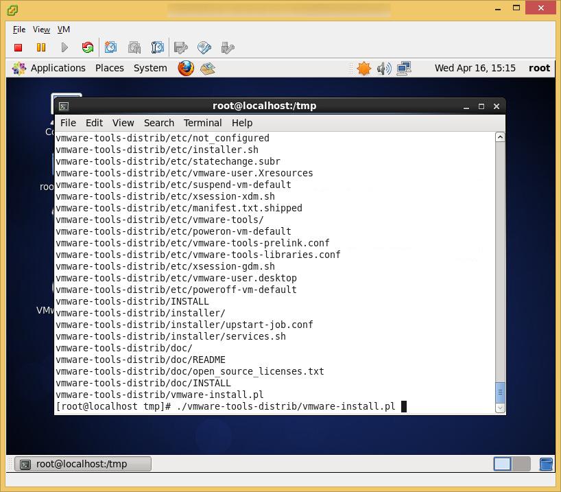 CentOS6 - VMware Tools - Install VMware Tools