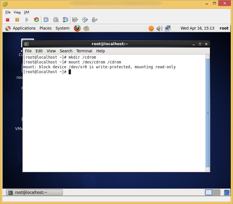 CentOS6 - VMware Tools - Map Mount Point cdrom