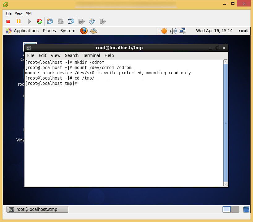 CentOS6 - VMware Tools - Temporary Files