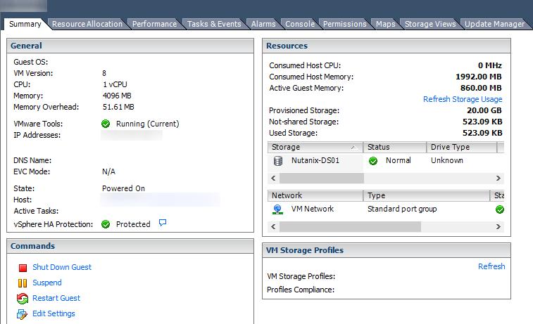 CentOS6 - VMware Tools - vSphere Status
