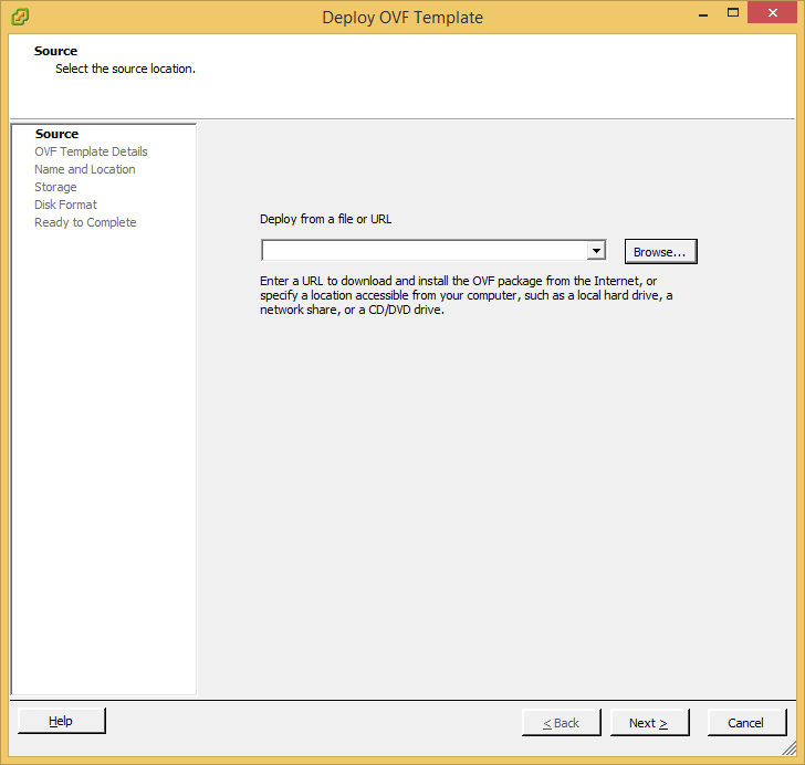 Deploy OVF Template - Browse