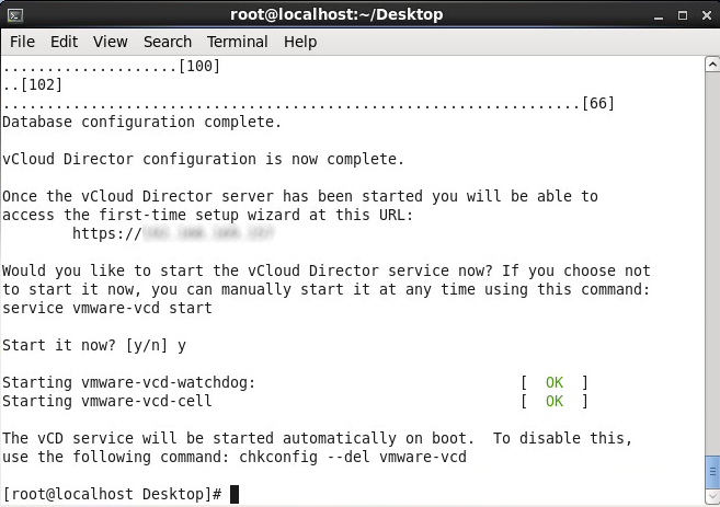 Install vmware-vcloud-director-5.5 - Start Service