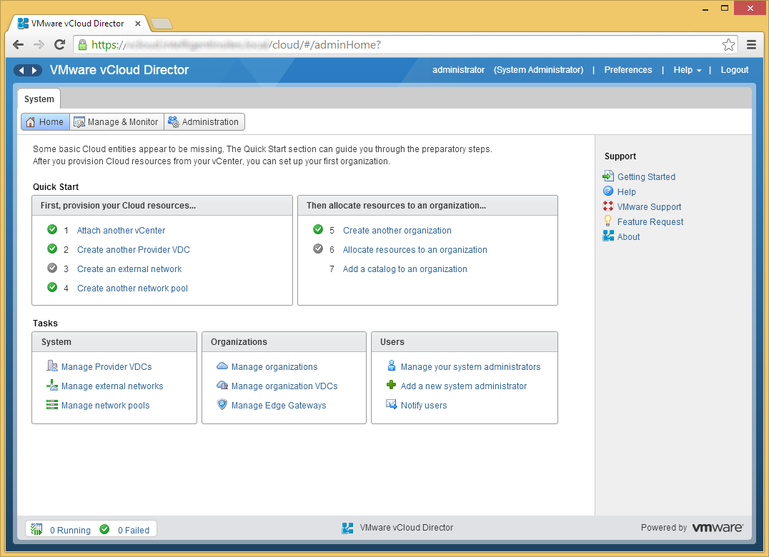 vCloud Director - Allocate resources to an organization