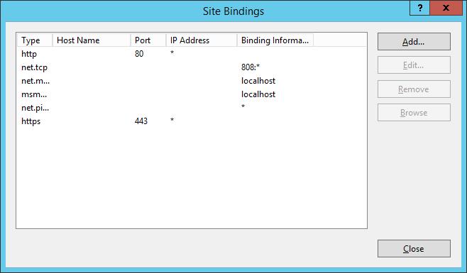 IIS - Site Bindings - SCCM