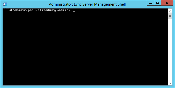 Lync Server Management Shell - Running as Administrator
