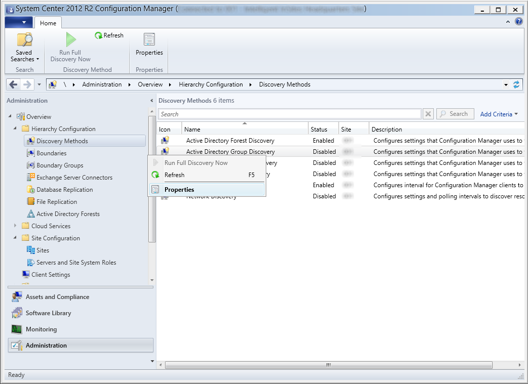 System Center 2012 R2 Configuration Manager - Administration - Hierarchy Configuration - Discovery Methods - Active Directory Group Discovery - Properties.png