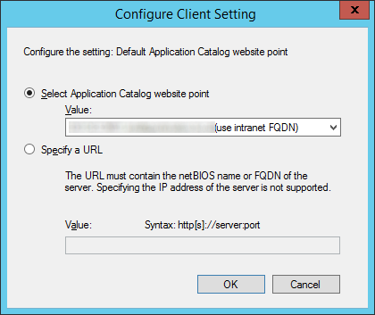 System Center 2012 R2 Configuration Manager - Administration - Client Settings - Default Settings - Computer Agent - Configure Client Settings