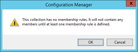 System Center 2012 R2 Configuration Manager - Assets and Compliance - Create Device Collection - Membership Rules - Dialog