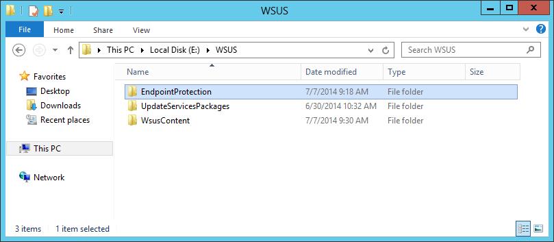System Center 2012 R2 Configuration Manager - EndpointProtection Folder