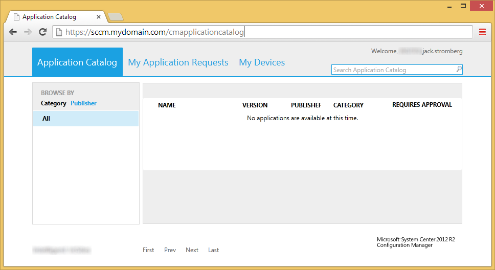 System Center 2012 R2 Configuration Manager - cmapplicationcatalog