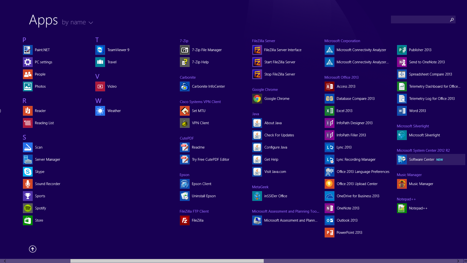Windows 8 - Start Menu - System Center 2012 R2 - Software Center