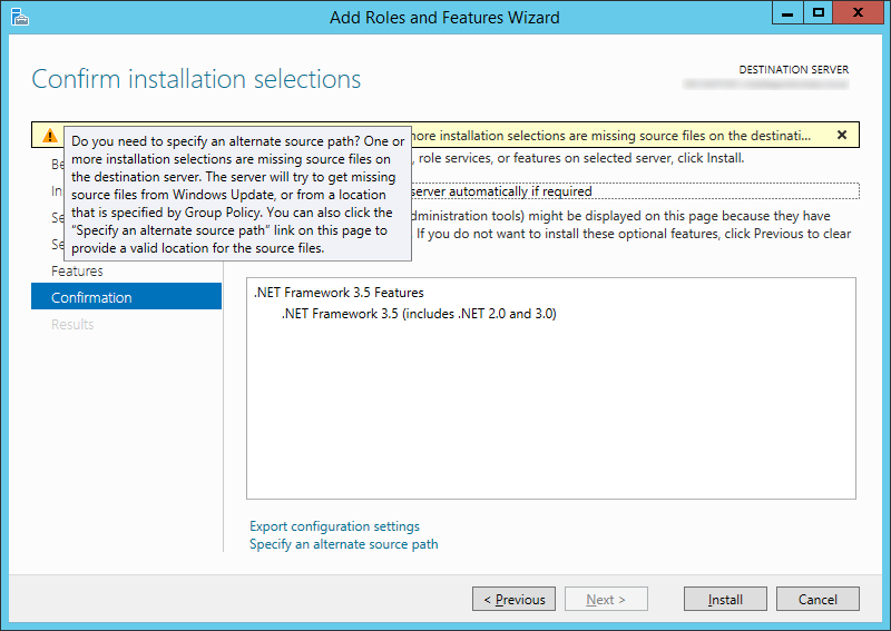 NET Framework 3-5 - Do you need to specify an alternate source path