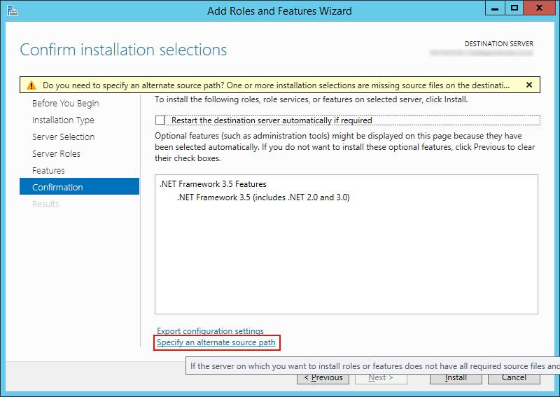 NET Framework 3-5 - Specify an alternate source path