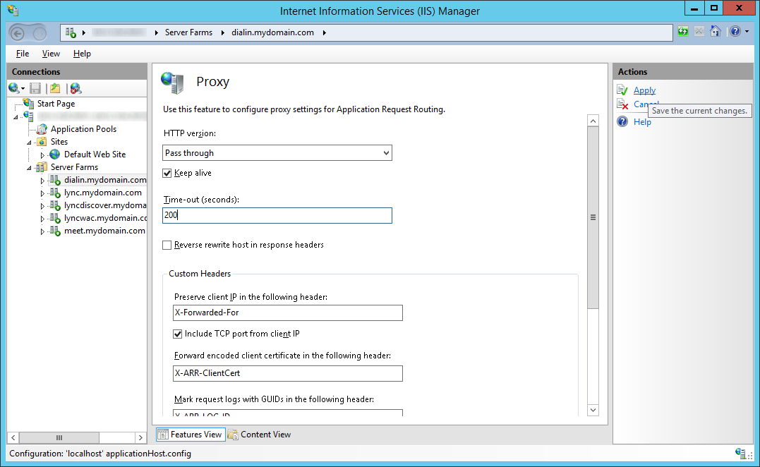 Tutorial] Deploying a reverse proxy for Lync Server 2013