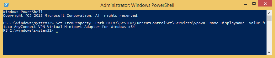 PowerShell-Set-vpnva-DisplayName-Cisco-AnyConnect-VPN