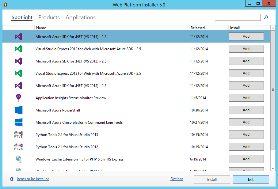Web Platform Installer 5.0 - Aplication Request Routing 3.0 - Exit