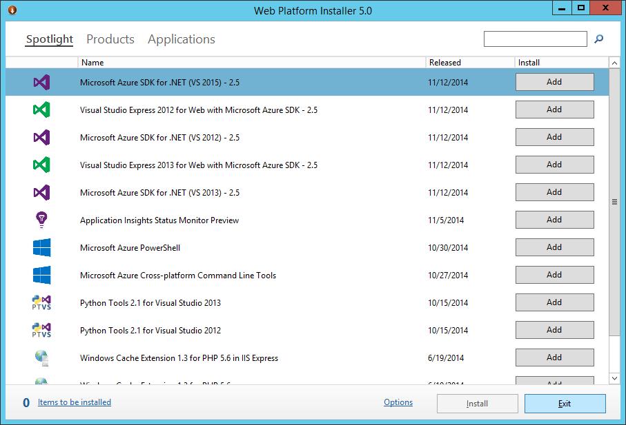 Web Platform Installer 5.0 - Aplication Request Routing 3.0 - Exit