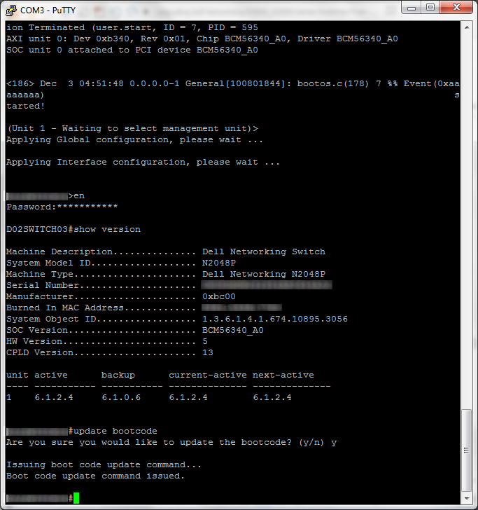 N2000-3000 - show version - active - 6_1_2_4 - update bootcode