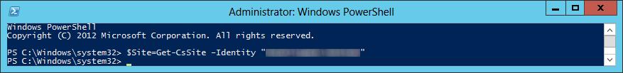 Lync Server 2013 - Get-CsSite - Variable