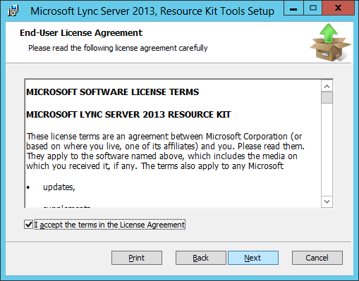 Lync Server 2013 - Resource Kit - EULA