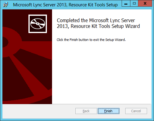 Lync Server 2013 - Resource Kit - Finish