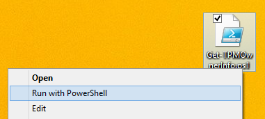 Get-TPMOwnerInfo - Run with PowerShell