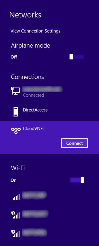 Windows 8 - Networks - CloudVNET