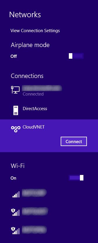 Windows 8 - Networks - CloudVNET