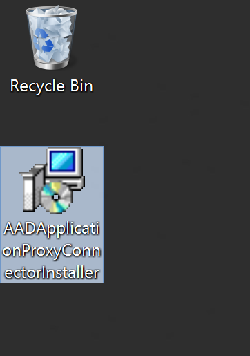 AADApplicationProxyConnectorInstaller Downloaded