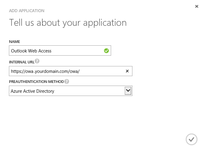 Azure Active Directory - Instance - Applications - Add - App Proxy - Classic Portal