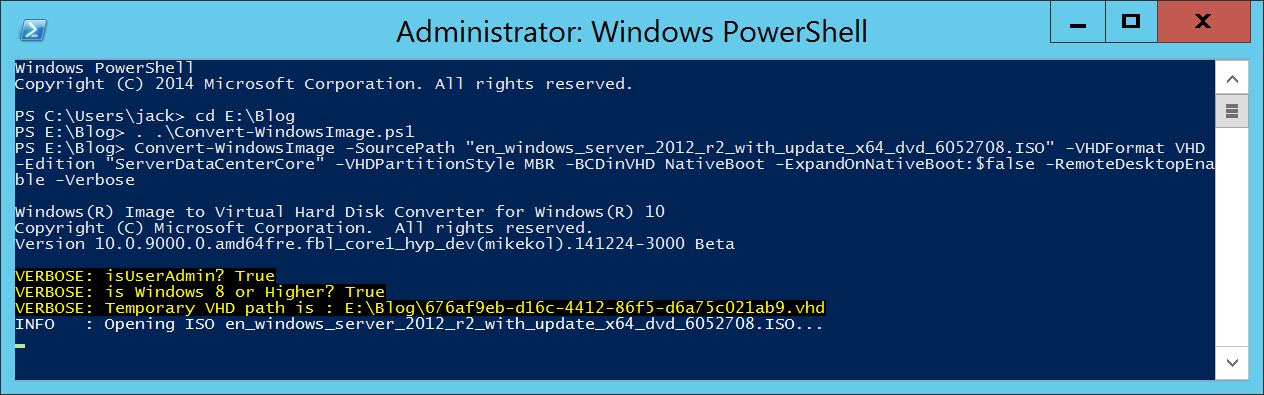 Convert-WindowsImage and Windows Server ISO - PowerShell - Execute Function