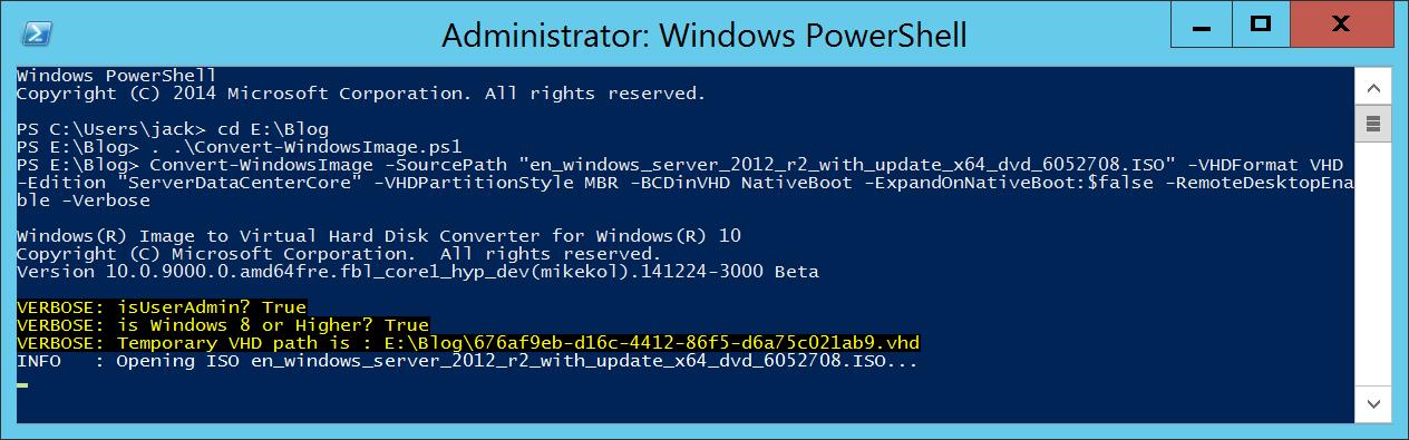 Convert-WindowsImage and Windows Server ISO - PowerShell - Execute Function