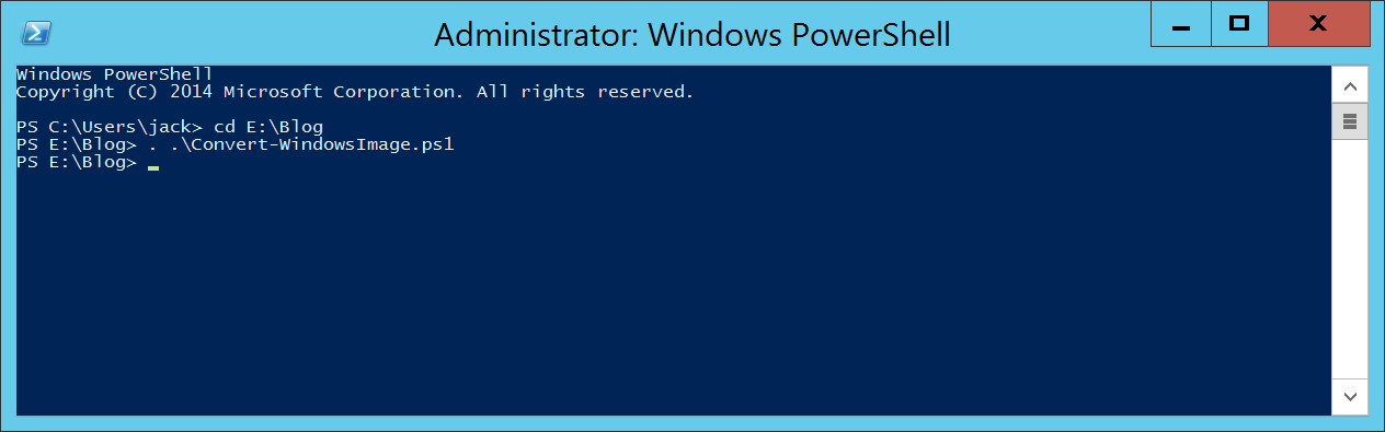 Convert-WindowsImage and Windows Server ISO - PowerShell - Load Function