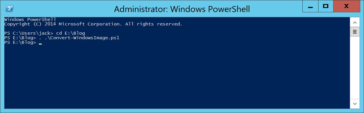 Convert-WindowsImage and Windows Server ISO - PowerShell - Load Function