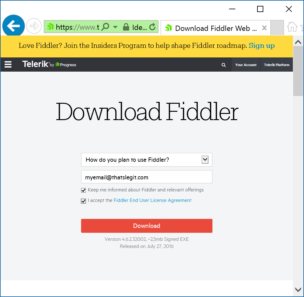 Download Fiddler