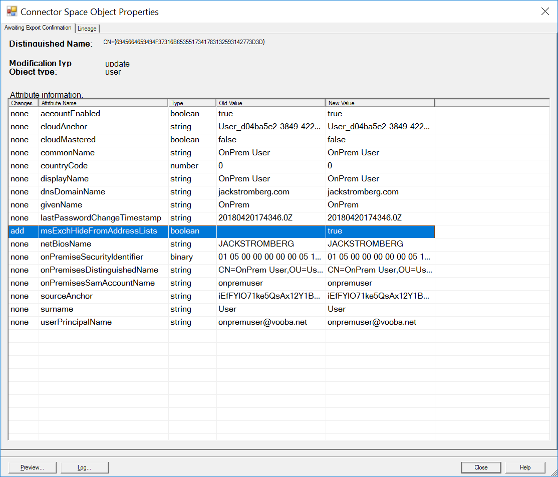 How to hide users from the GAL in Office 365 synchronized